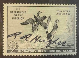 US Stamps #RW18 Used Federal Ducks #RW18A159