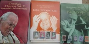3 Album stamps of the Popes