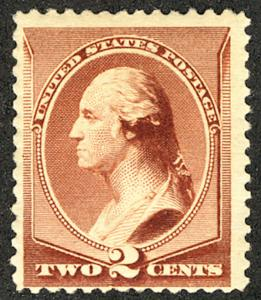US # 210 SCV $135.00 VF mint never hinged, well centered, Fresh Color,  2c Wa...