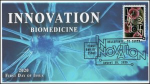 20-188, 2020, SC 5515, Innovation, First Day Cover, Pictorial Postmark, Biomed