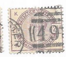 GB #101  2 1/2p llilac Queen Victoria  (U) CV $18.00
