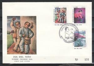 Honduras, Scott cat. C860-C862. Paintings issue. First Day Cover.
