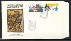 Norway, Scott cat. 656-657. World Scout Jamboree. First day cover. ^