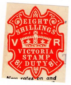 (I.B) Australia - Victoria Revenue : Impressed Stamp Duty 8/-