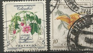 COLOMBIA  C360, C365  USED,  FLOWER TYPE
