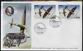 Nevis 1986 Spitfire $2.50 (Mark 1A in Battle of Britain) ...
