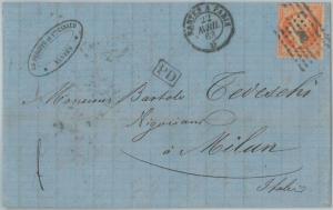 75191 - FRANCE - Postal History -  TRAIN AMBULANT Nantes Paris on COVER  1863