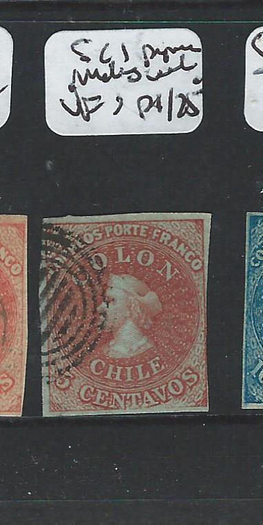 CHILE (P2006B) COLUMBUS 5C  SC1 PAPERMAKERS WMK VFU STAMP   STAMP 9/4