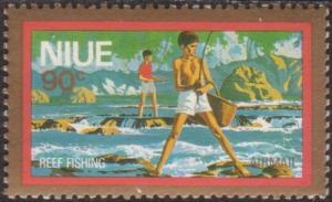 Niue 1979 SG268 90c Reef Fishing MNH