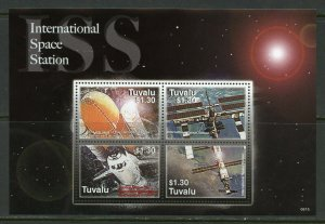 TUVALU INTERNATIONAL SPACE STATION  SHEET MINT NEVER HINGED