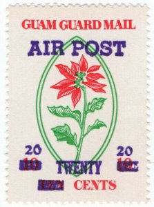 (I.B) Guam Local Post : Guam Guard Mail 20c on 10c OP (Air Post)