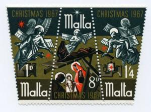 Malta #377a Christmas Triptych - 3 different designs mognh