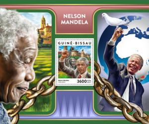 GUINEA BISSAU - 2017 - Nelson Mandela - Perf Souv Sheet - MNH