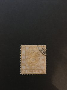 china imperial dragon, very rare stamp, used,    list#12