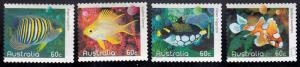 Australia #3278-81 Used Fish Set issued in 2010.