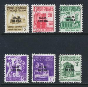 INTRA ITALY NATIONAL LIBERATION COMMITEE CLN 1945 SET VF USED (SEE BELOW
