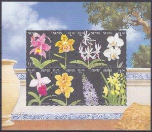 1999 Nevis 1381-88KL Flowers 8,00 €