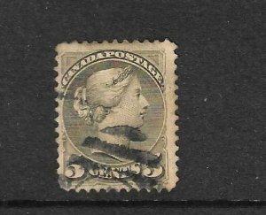 CANADA 1870-89  5c    QV  FU  Sc 38