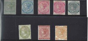 Jamaica 1883-1890 SC 16-23 Mint SCV$ 800.00 Set