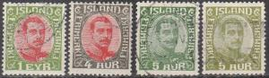 Iceland #108, 110-2  F-VF Used CV $8.00