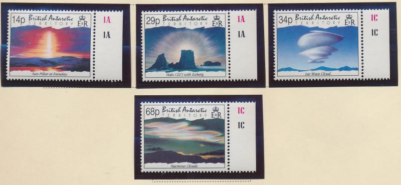 British Antarctic Territory Stamp Scott #198-201, Mint Never Hinged With Selv...