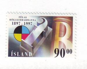 Iceland Sc 846 1997 Graphic Workers Union stamp mint NH