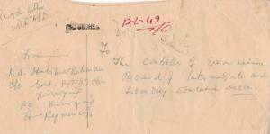 bangladesh overprints on pakistan early stamps cover ref 12821