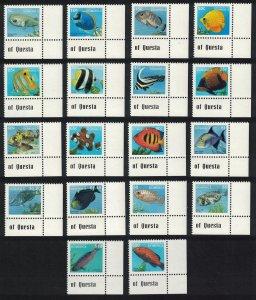 Dominica Fish 18v Definitives 1997 Corners SG#2374-91