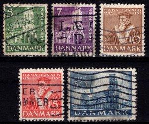 Denmark 1936 Anniv. Of Reformation, Set [Used]