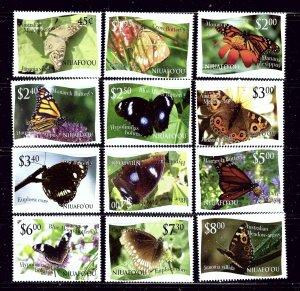 Tonga-Niuafoou 275-86 MNH 2012 Butterflies