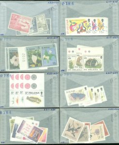 EDW1949SELL : ST HELENA Nice collection of ALL DIFF VF MNH CPLT SETS. Sc Cat $68