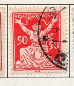 Czechoslovakia 1920-27 Early Issue Fine Used 50h. 271882