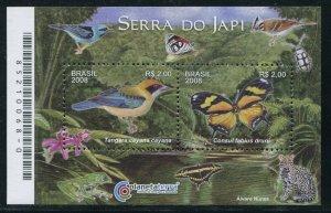 Brazil 2008 Sc 3049 Birds Butterflies CV $5