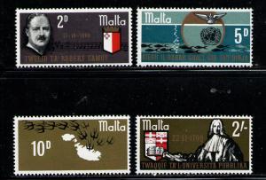 MALTA 1969 MNH SC.400/403 Malta University