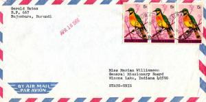 Ruanda Urundi Burundi 5F Little Bee Eater (3) 1966 Usumbura-1 Airmail to Wino...