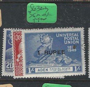 ADEN KATHIRI (PP0807B) UPU  SG 16, 18-9  MOG