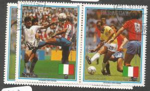 Paraguay 1989 Football SC 2309-10 VFU (1cjy)