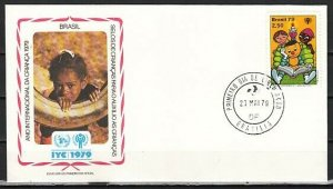 Brazil, Scott cat. 1612. Int`l Year of the Child. First day cover. ^