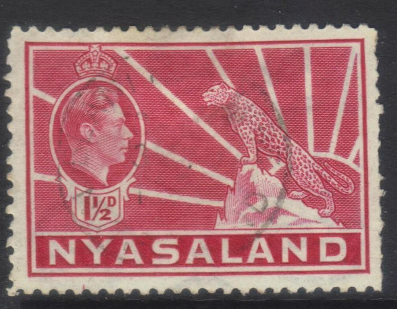 NYASALAND 1938-1944 DEFINS SG132 USED CAT £8+