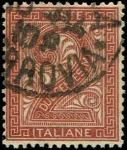 Italy SC# 25 Numeric Used partial CDS