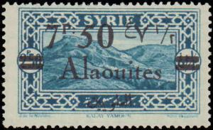 1926 Alaouites #44, Incomplete Set, Hinged
