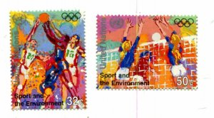 United Nations New York Scott #683-684 Sports and the Environment MNH Black 4 -B
