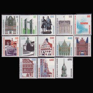 GERMANY 1994 - Scott# 1838-60 Bldg Iss.94-2000 Set of 13 NH