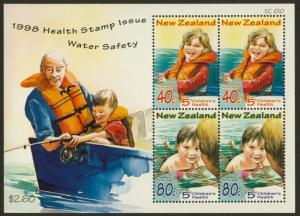 New Zealand B160a MNH Children, Water Safety, Boat