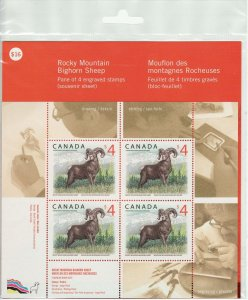 Canada Stamp #3129 (SHEET OF 4) (x$4) - Rocky Mountain Bighorn Sheep (2018)