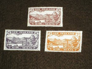 1931 NEW ZEALAND Stamps AIR MAIL STAMPS SG548-SG550 SET MOUNTED HINGED MINT MH