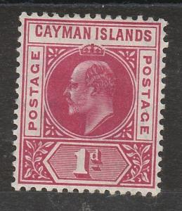 CAYMAN ISLANDS 1905 KEVII 1D WMK MULTI CROWN CA