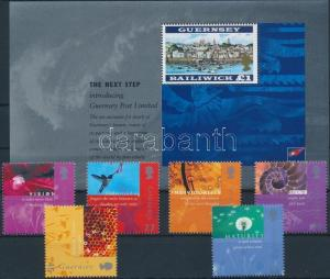 GB Guernsey stamp Post office set + block MNH 2001 Mi 900-905 + 27 WS176535