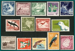 Nauru 1966 Pictorial Definitives, mint #58-71,SG66-SG79