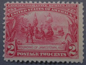 United States #329 Two Cent Jamestown MNH